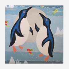 Penguin Pair Tile Coaster