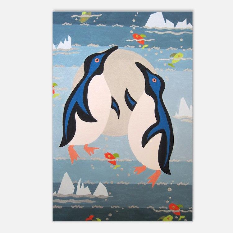 Penguin Pair Postcards (Package of 8)