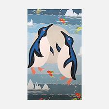 Penguin Pair Sticker (Rectangle)