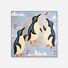 """Penguins Playing with the M Square Sticker 3"""" x 3"""""""