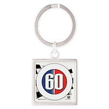 roundlogo60 Square Keychain