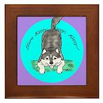 Siberian Husky Nonsense! Framed Tile