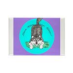Siberian Husky Nonsense! Rectangle Magnet (100 pac