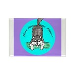 Siberian Husky Nonsense! Rectangle Magnet (10 pack