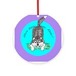 Siberian Husky Nonsense! Ornament (Round)