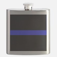 Police Thin Blue Line Flask