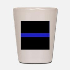 Police Thin Blue Line Shot Glass