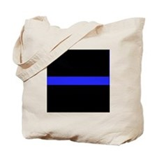 Police Thin Blue Line Tote Bag