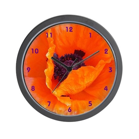 Poppy Clock (with numbers)
