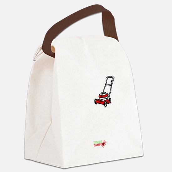 I_Lawnmower_Zombies Canvas Lunch Bag