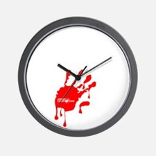 Zombie_Wuz_Here Wall Clock