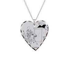 6611_court_reporter_cartoon Necklace Heart Charm