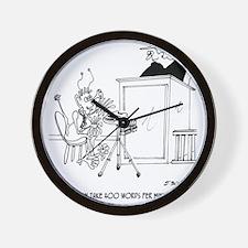 6611_court_reporter_cartoon Wall Clock