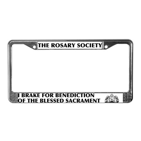 Blessed Sacrament License Plate Frame
