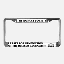 Blessed Sacrament License Plate Frame