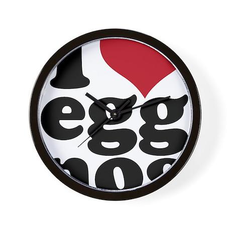 I Heart Eggnog Wall Clock