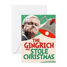 gingrinchpostcard Greeting Card