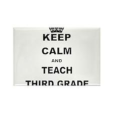 KEEP CALM AND TEACH THIRD GRADE Magnets