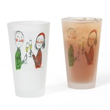 cheers couple Drinking Glass