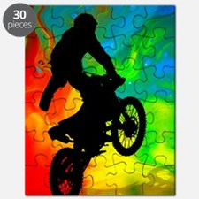 Motocross in a Solar Melt Down  Puzzle