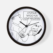 5789_court_reporter_cartoon Wall Clock