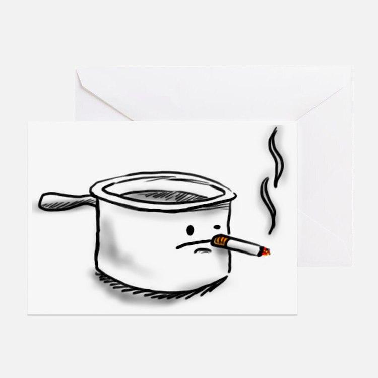 smoking pot Greeting Card