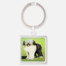 oldenglishsheepdog Square Keychain
