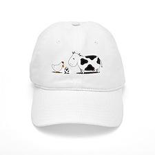 chicken and cow egg Baseball Cap