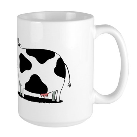 chicken and cow egg Large Mug