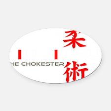 Chokester Oval Car Magnet