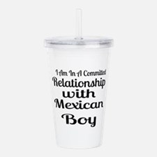 I Am In Relationship W Acrylic Double-wall Tumbler