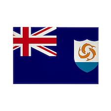 Flag Anguilla Rectangle Magnet