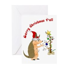 ArmadilloChristmascard_horizontal co Greeting Card