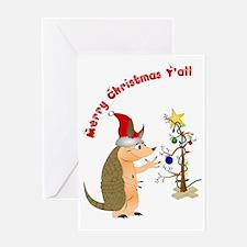 ArmadilloChristmascard_horizontal co Greeting Card