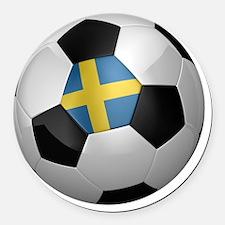 socc_big_sweden Round Car Magnet