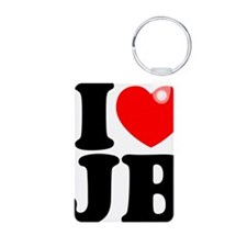 I Love Jam Bands Aluminum Photo Keychain