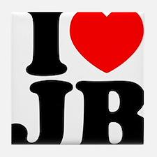 I Love Jam Bands Tile Coaster