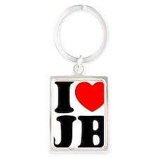 I Love Jam Bands Portrait Keychain