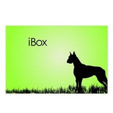 boxer_laptop_lime Postcards (Package of 8)
