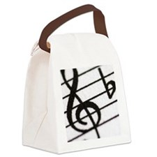 trebel clef Canvas Lunch Bag