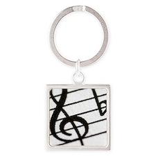 trebel clef Square Keychain
