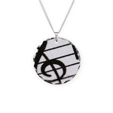 trebel clef Necklace Circle Charm