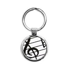 trebel clef Round Keychain