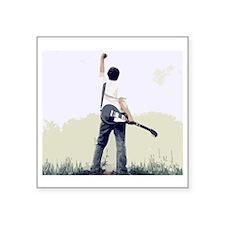 "guitar wall Square Sticker 3"" x 3"""