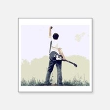 "guitar wall Square Sticker 3"" x 3"""