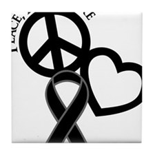 Black, Cure Tile Coaster