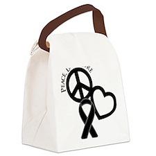 Black, Cure Canvas Lunch Bag