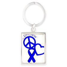 Blue, Hope Portrait Keychain