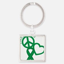 Green, Cure Square Keychain