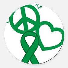 Green, Cure Round Car Magnet